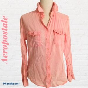Aeropostale Pink Button Down Shirt